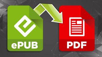 EPUB to PDF