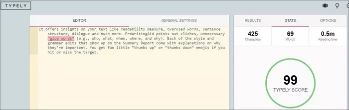 Writing Editor App