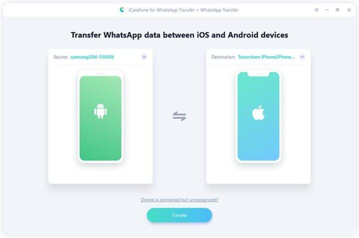 Tenorshare iCareFone for WhatsApp Transfer