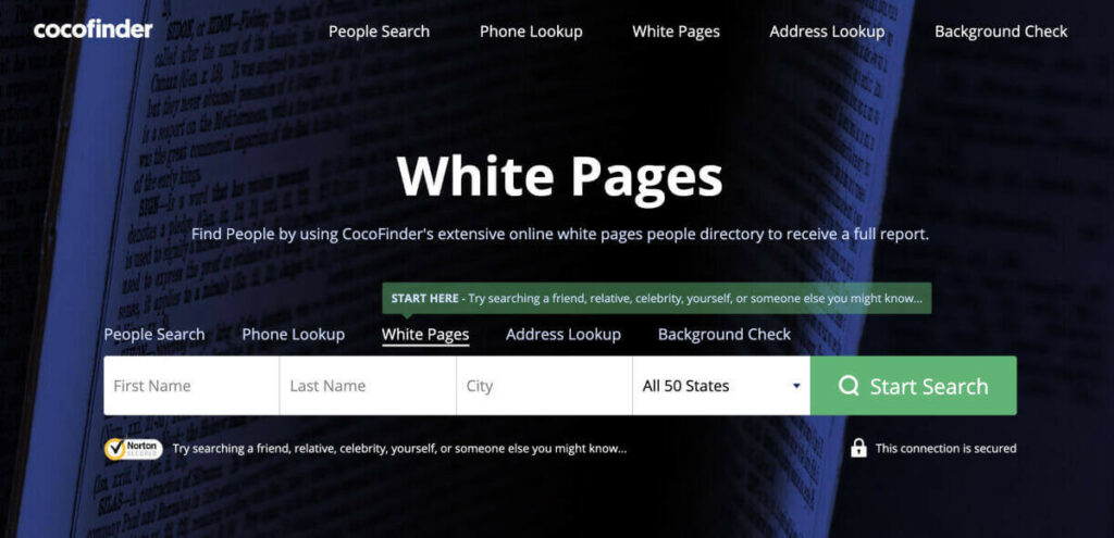 CocoFinder White Pages