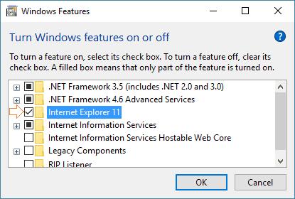 Install Internet Explorer On Windows