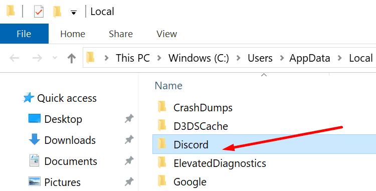 Uninstall Discord