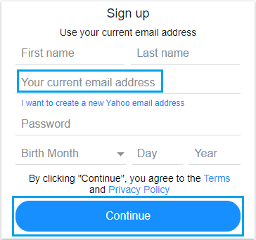 Yahoo Email Without Phone Number